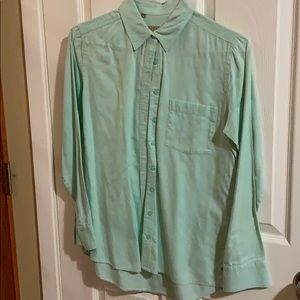 Guess Women's Light Turquoise/Teal Button Down